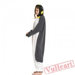 Adult Gray Penguins Onesie Pajamas / Costumes for Women & Men