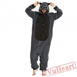Adult Gray Raccoons Onesie Pajamas / Costumes for Women & Men