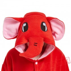 Adult Red Elephant Onesie Pajamas / Costumes for Women & Men