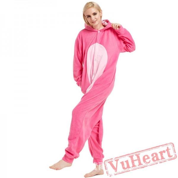 Adult Pink Leopard Onesie Pajamas / Costumes for Women & Men