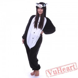 Adult Black Cat Kigurumi Onesie Pajamas / Costumes for Women & Men