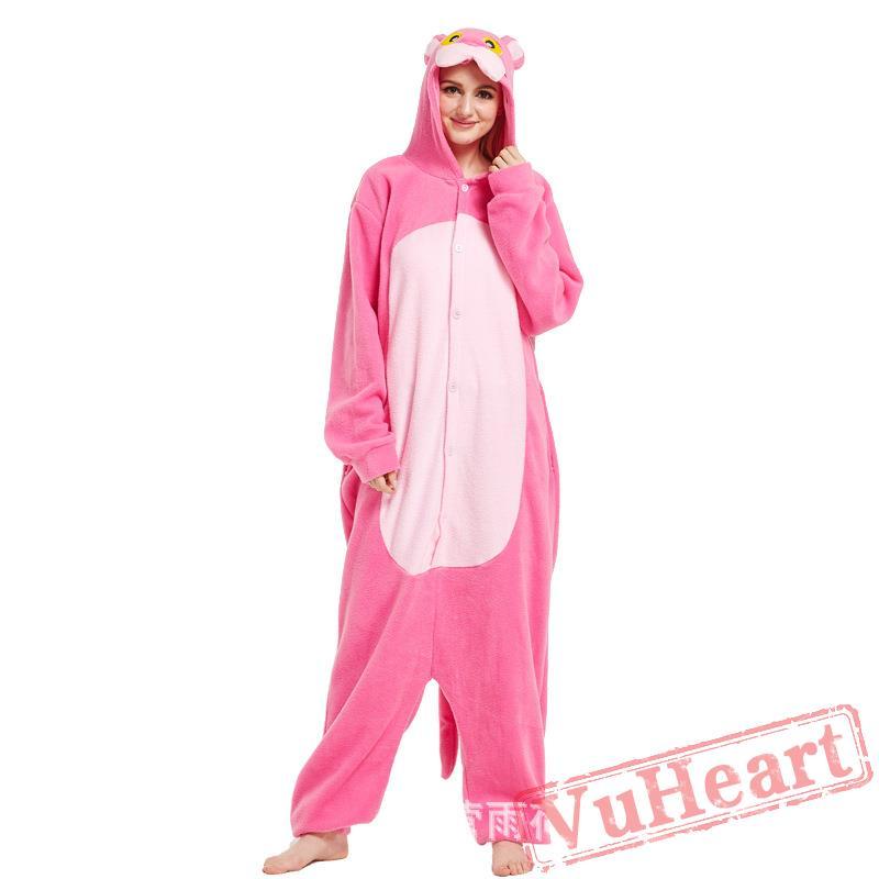 b0e4a53dc Adult Pink Wolf Kigurumi Onesie Pajamas   Costumes for Women   Men