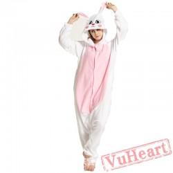 Adult White Rabbit Onesie Pajamas / Costumes for Women & Men