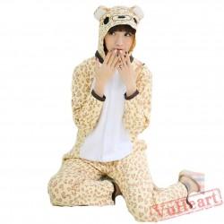 Spring & Autumn Leopard Bear Kigurumi Onesies Pajamas for Women & Men
