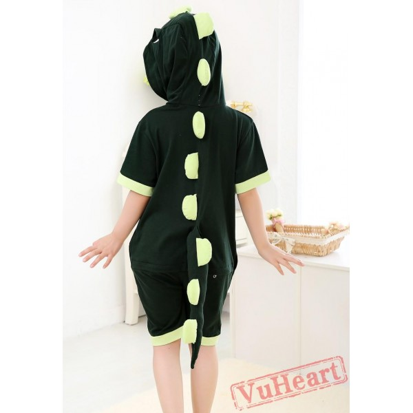 Green Dinosaur Kigurumi Onesies Pajamas Costumes for Boys & Girls