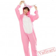 Pink Stitch Couple Onesies / Pajamas / Costumes
