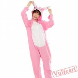 Spring & Autumn Pink Stitch Kigurumi Onesies Pajamas for Women & Men