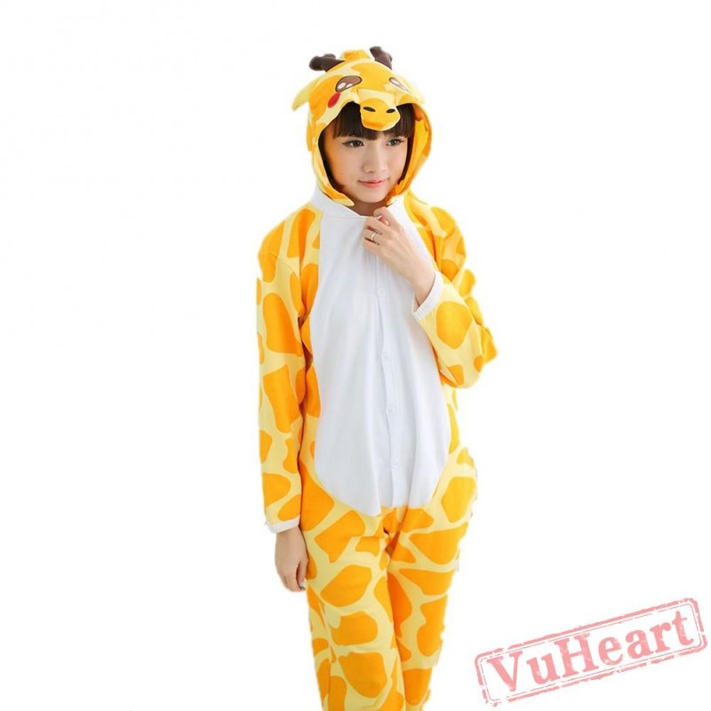 12daa06837fe Spring   Autumn Giraffe Kigurumi Onesies Pajamas for Women   Men