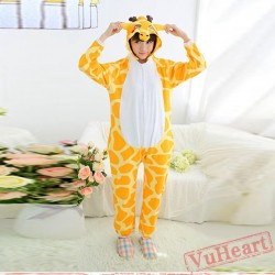 Spring & Autumn Giraffe Kigurumi Onesies Pajamas for Women & Men