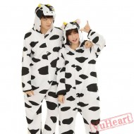 Spring & Autumn Cow Kigurumi Onesies Pajamas for Women & Men
