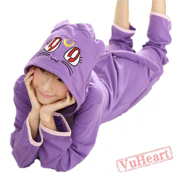 Spring & Autumn Purple Kigurumi Onesies Pajamas for Women & Men