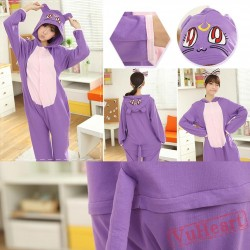 Spring & Autumn Purple Kigurumi Onesies Pajamas for Women & Men