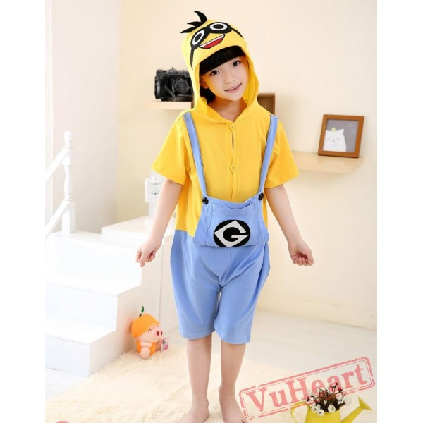 Cartoon Despicable Me Minions Summer Kigurumi Onesies Pajamas Costumes for Boys & Girls