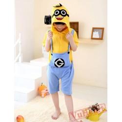 Cartoon Despicable Me Minions Summer Kigurumi Onesies Pajamas Costumes for Boys & Girls