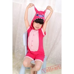 Pink Stitch Kigurumi Onesies Pajamas Costumes for Boys & Girls