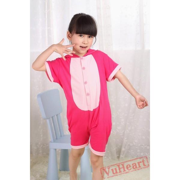 Pink Stitch Kigurumi Onesies Pajamas Costumes for Boys & Girls