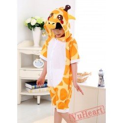 Cartoon Giraffe Summer Kigurumi Onesies Pajamas Costumes for Boys & Girls