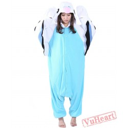Blue Parrot Kigurumi Onesies Pajamas Costumes for Women & Men