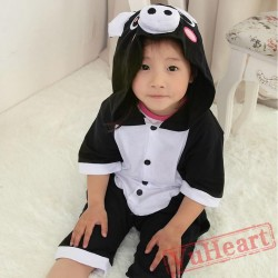 Black Pig Summer Kigurumi Onesies Pajamas Costumes for Boys & Girls