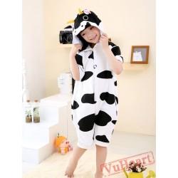 Cartoon Cow Summer Kigurumi Onesies Pajamas Costumes for Boys & Girls