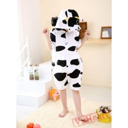 Cartoon Cow Summer Kigurumi Onesies Pajamas Costumes for Boys & Girls