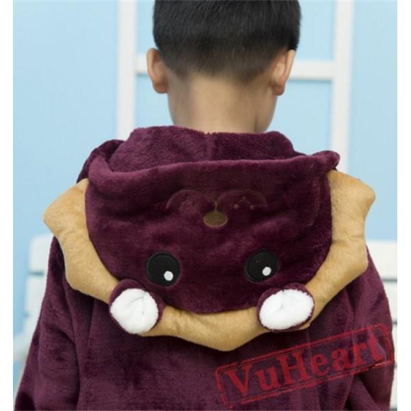 Purple Lion Kigurumi Onesies Pajamas Costumes for Boys & Girls