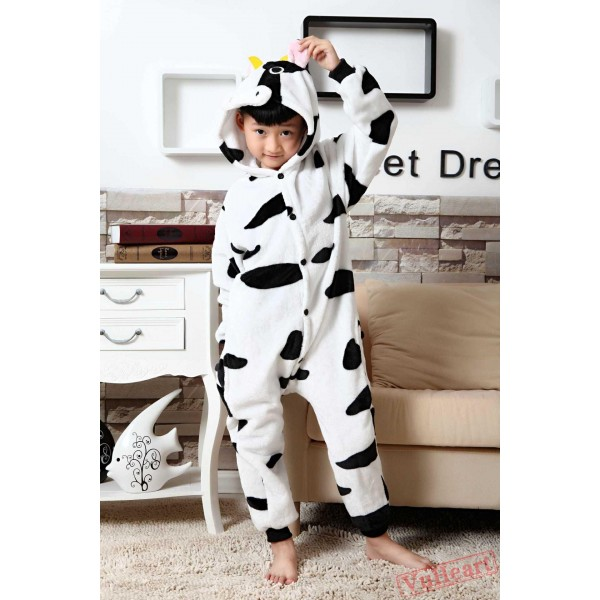 Cow Kigurumi Onesies Pajamas Costumes for Boys & Girls
