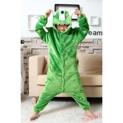 Monster Inc Mike Wazowski Kigurumi Onesies Pajamas Costumes for Boys & Girls