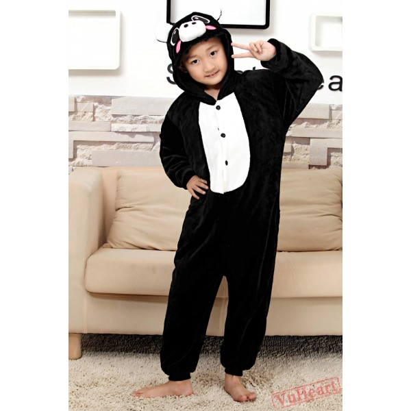 Black Pig Kigurumi Onesies Pajamas Costumes for Boys & Girls Halloween
