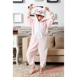 Pink Pig Kigurumi Onesies Pajamas Costumes for Boys & Girls Halloween