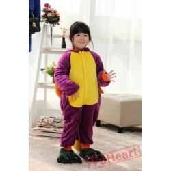 Purple Spyro The Dragon Kigurumi Onesies Pajamas Costumes for Boys & Girls