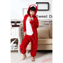 Red Fox Kigurumi Onesies Pajamas Costumes for Boys & Girls Winter