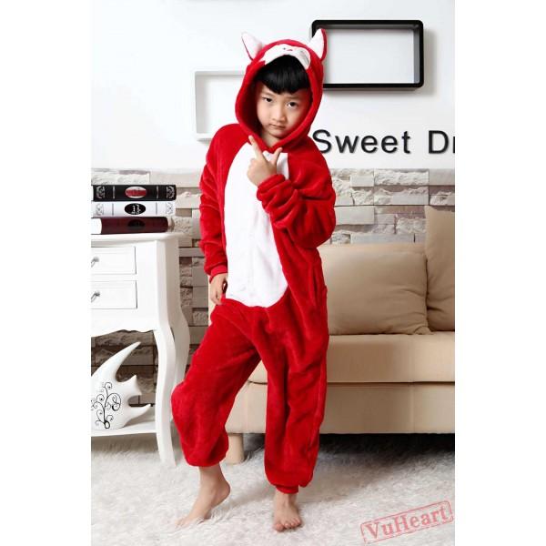Red Fox Kigurumi Onesies Pajamas Costumes for Boys & Girls Winter