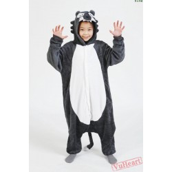 Grey Wolf Kigurumi Onesies Pajamas Costumes for Boys & Girls Winter