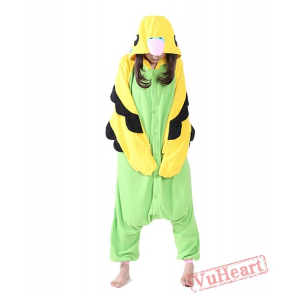 Green Parrot Kigurumi Onesies Pajamas Costumes for Women & Men