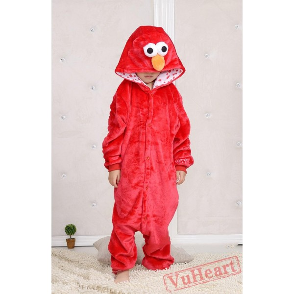 Sesame Street Cookie Red Monster Kigurumi Onesies Pajamas Costumes for Boys & Girls