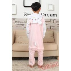 Pink Hello Kitty Kigurumi Onesies Pajamas Costumes for Boys & Girls Winter