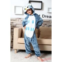 Owl Kigurumi Onesies Pajamas Costumes for Boys & Girls Winter