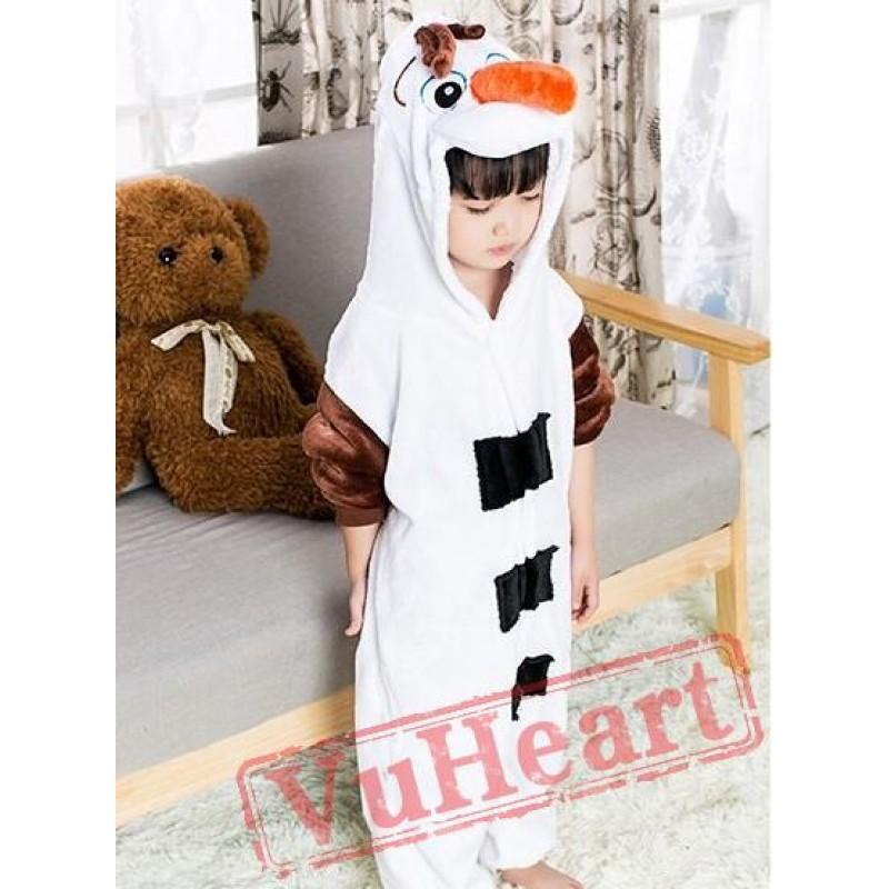 Frozen Olaf Snowman Kigurumi Onesies Pajamas Costumes for Boys u0026 Girls Winter  sc 1 st  VuHeart & Boys u0026 Girls Frozen Olaf Snowman Kigurumi Onesies Pajamas Costumes ...