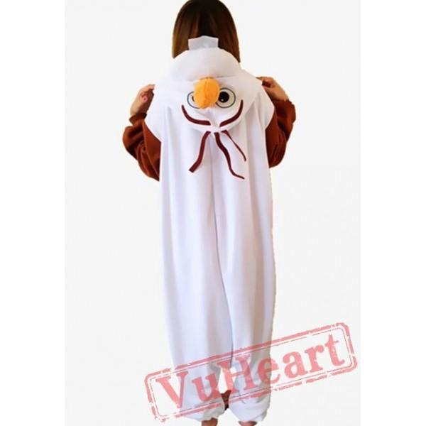 Frozen Olaf Snowman Kigurumi Onesies Pajamas Costumes for Boys & Girls Winter