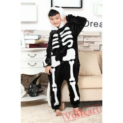 Skeleton Kigurumi Onesies Pajamas Costumes for Boys & Girls