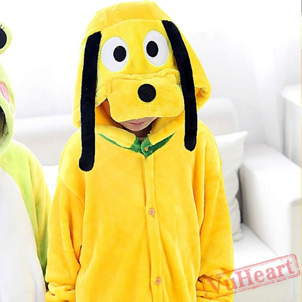 Pluto Dog Warm Kigurumi Onesies Pajamas Costumes for Boys & Girls
