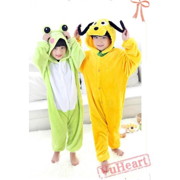 Pluto Dog Warm Kigurumi Onesies Pajamas Costumes for Boys & Girls