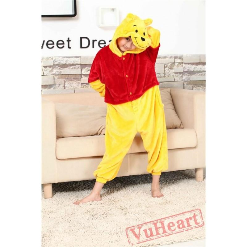 e343e32c2298 Winnie the Pooh Kigurumi Onesies Pajamas Costumes for Boys   Girls Cartoon