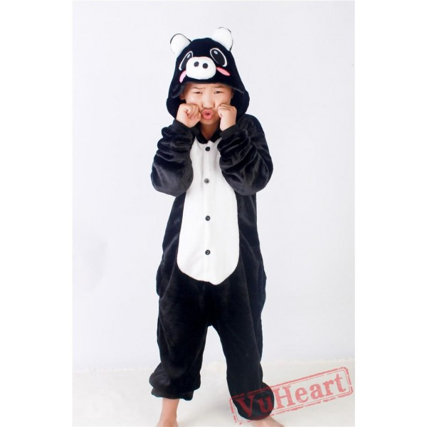 Black Pig Kigurumi Onesies Pajamas Costumes for Boys & Girls