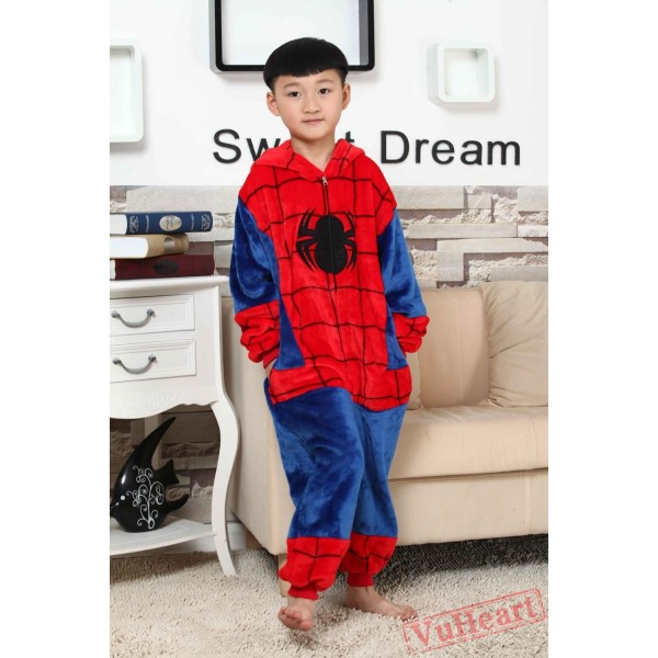 Super Hero Spiderman Kigurumi Onesies Pajamas Costumes for Boys & Girls Winter