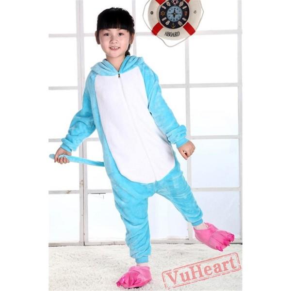 Blue Hippo Kigurumi Onesies Pajamas Costumes for Boys & Girls