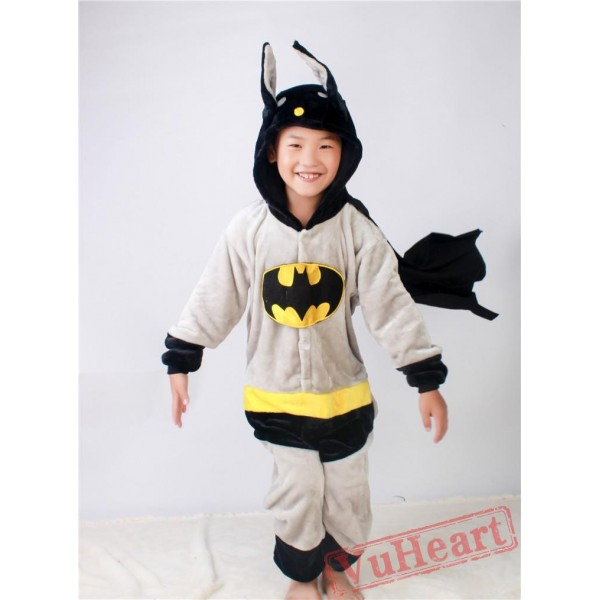 Super Hero Batman Kigurumi Onesies Pajamas Costumes for Boys & Girls Halloween
