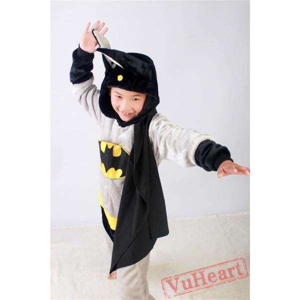 Super Hero Batman Kigurumi Onesies Pajamas Costumes for Boys & Girls Halloween