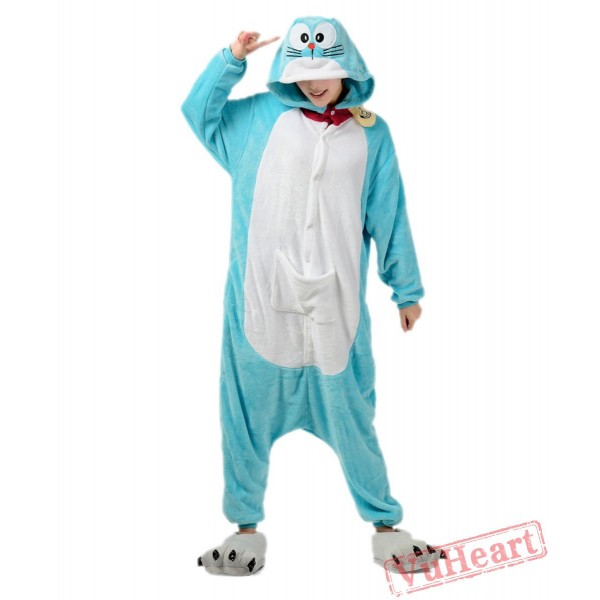 Doraemon Kigurumi Onesies Pajamas Costumes for Women & Men